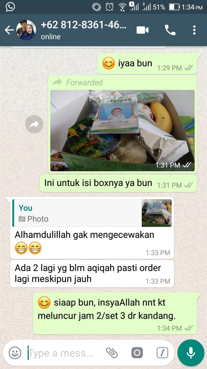 Testimoni Paket aqiqah